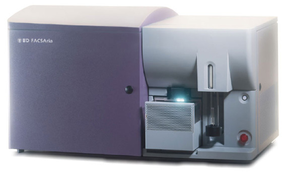 BD FACSAria flow cytometer for analysis of hematopoietic and bone marrow cell content